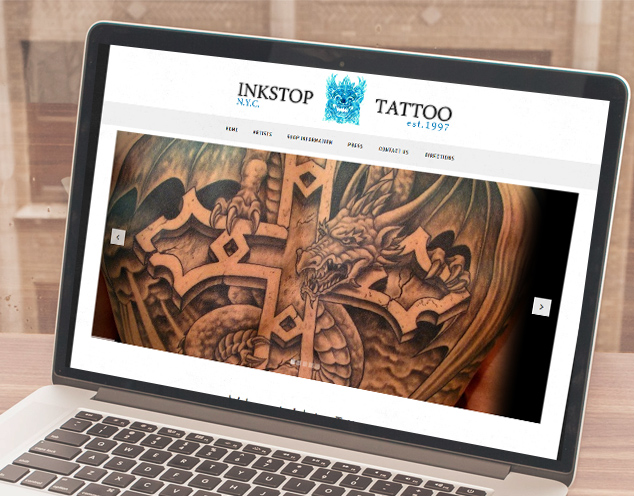 tattoo studio website development
