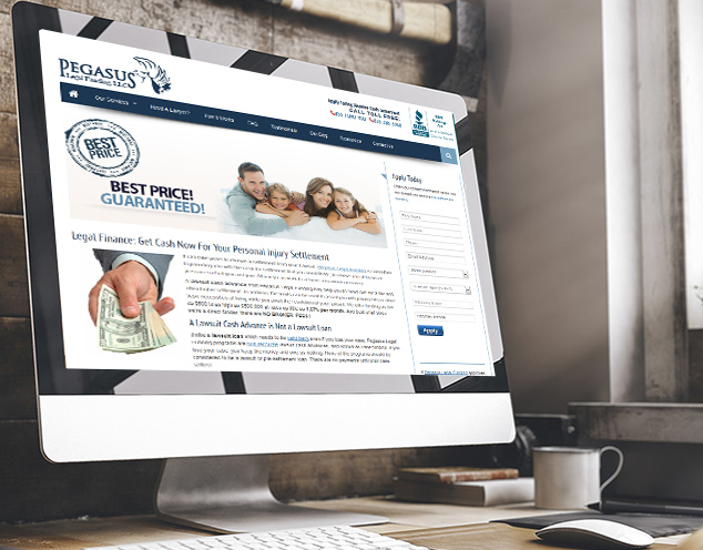 law funds website design development