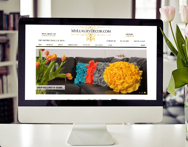 luxury decor website eCommerce