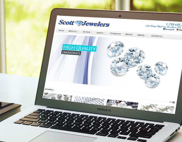 jewelry website development