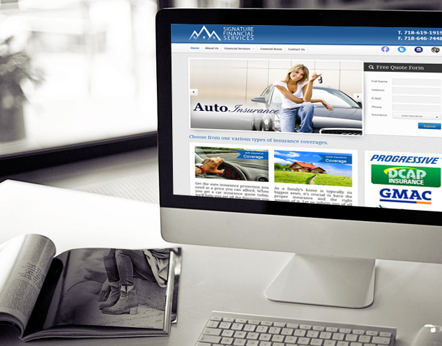 insurance company website development