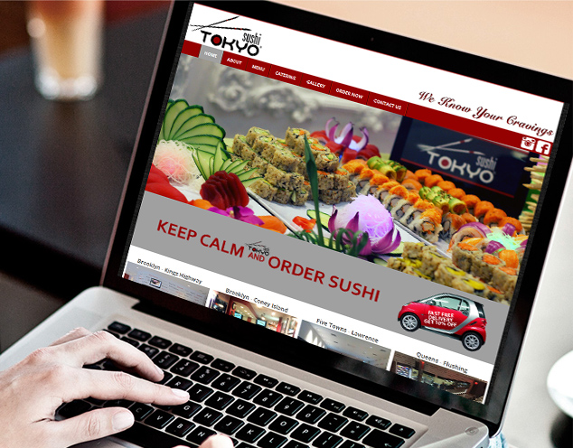 sushi restaurant website development
