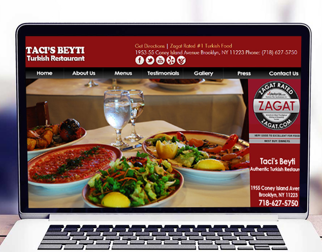 turkish restaurant website design