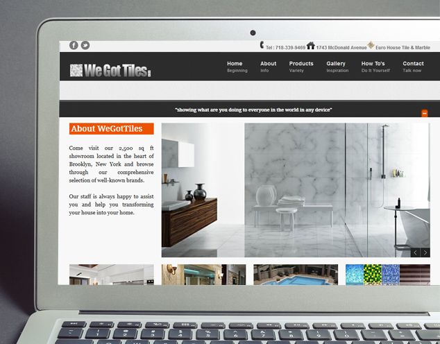 tile company web design